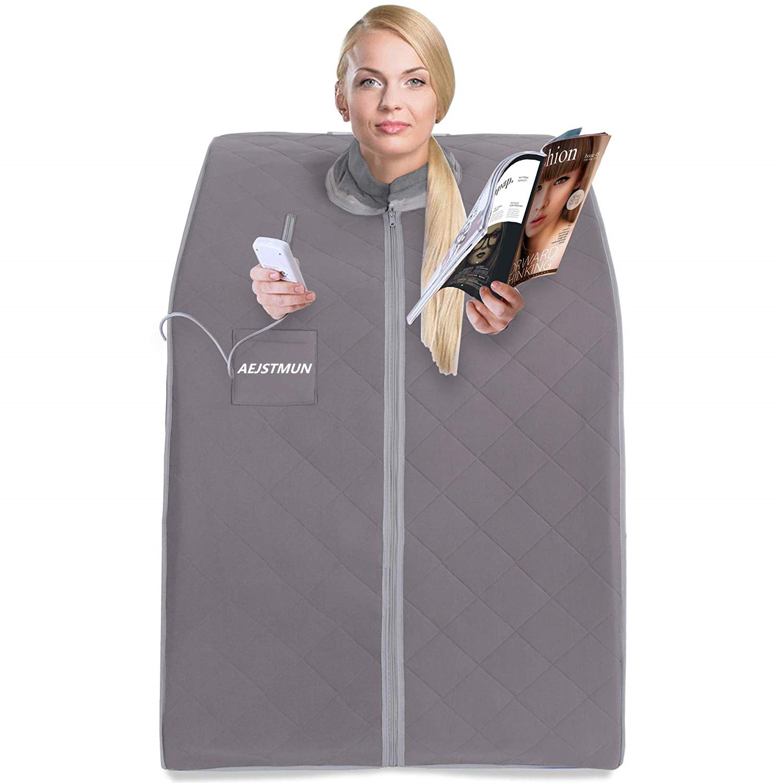 Far Infrared Sauna For Sauna SPA  Weight Loss Negative Ion Detox Therapy  Personal Fir Infarared Sauna Room Folding Chair