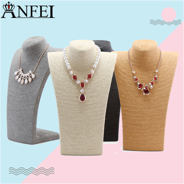 Anfei Jewelry Pendants Display Necklace Stand Neck Bust Holder