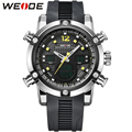 WEIDE Original Brand Men Sports Watches Aanlog Digital Watch 3ATM Waterproof Alarm Fashion Outdoor Military Men Wristwatches