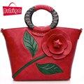 BVLRIGA Luxury handbags women bags designer women leather handbags women messenger bags shoulder bag flowers retro casual totes