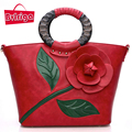 BVLRIGA bolsas De Luxo mulheres sacos de designer bolsas de couro das mulheres totes mulheres messenger bags bolsa de ombro flores retro casuais