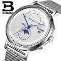 Suíça BINGER Homens Relógio Marca De Luxo Automatic Mens Relógios Mecânicos Safira Masculino Movimento Japão reloj hombre B8610