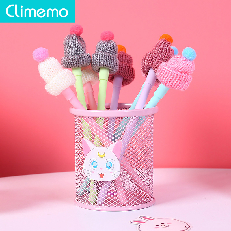 Precise Climemo 0.38mm Warm Hat Pens For School Creative Holiday Gel Pens Kawaii Stationary Christmas Gift Np263 Can Be Repeatedly Remolded.