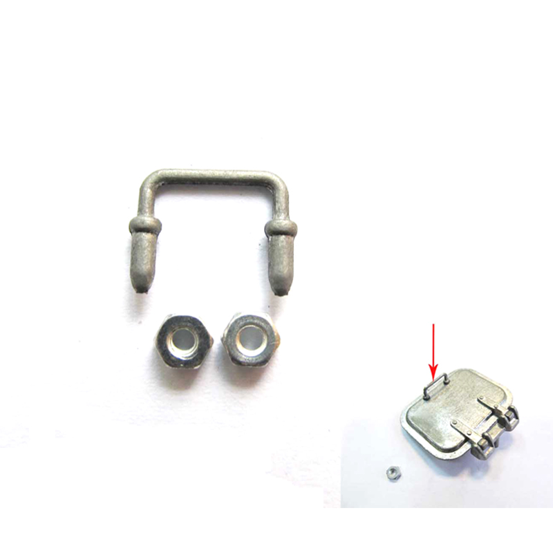 Mato 3818-1 Metal loader hatch handrail for 1/16 1:16 RC Germany Tiger 1 tank-metal upgraded parts