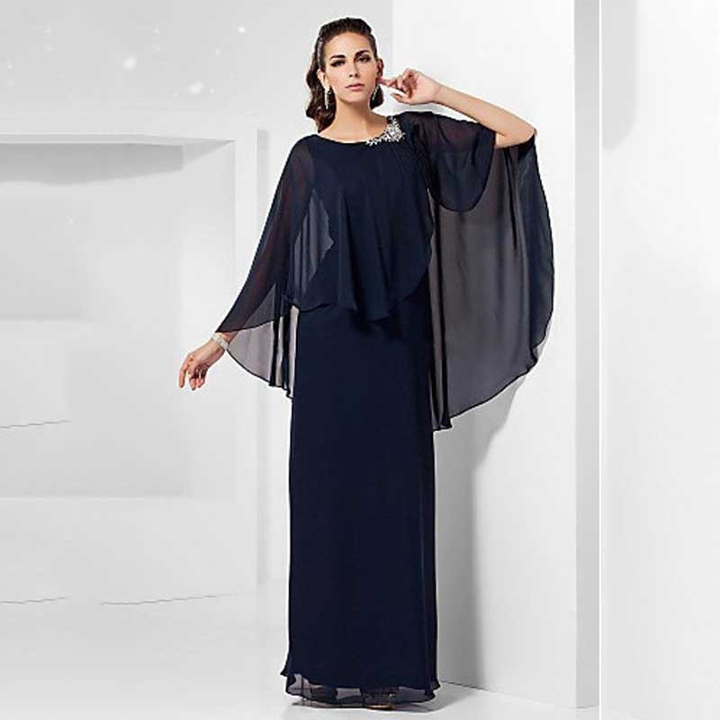 85dea35ba28 Cheap Long Sleeve Formal Evening Dress Plus Size Party Gowns Crystals Navy  Blue Chiffon Mother of the Bride Pant Suits 2015 -in Mother of the Bride  Dresses ...