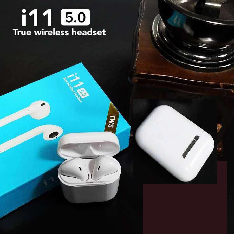 New I11 Tws Mini Bluetooth 5.zero Wi-fi Earphone Headphones Contact Management Blutooth Earbuds Pk I10 Air Pods Telephones Headset