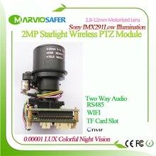 2MP 1080P FULL HD WI FI Starlight IP PTZ Network Camera Module Motorized auto-focal  2.8-12mm 4X Zoom Lens TF Card Slot IIMX291