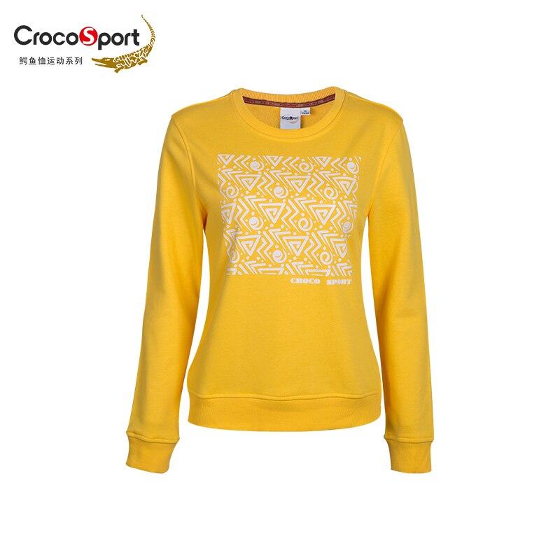 Crocosport Originale Donna Rotonda Collare Abbigliamento Donna Sport Training T-Shirt Femme Quick Dry Top In Cotone Abbigliamento per donna