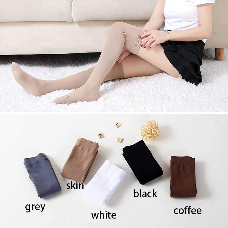 72faaa66bf8 3 Pairs lot Women Split Toe Running Stockings Nylon Long Socks Over Knee- High