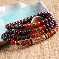 6mm Natural Garnet Bracelets Fashion Handmade Mantra Jewelry Trans-Beads Good Lucky Bracelet For Women Men Drop Shipping