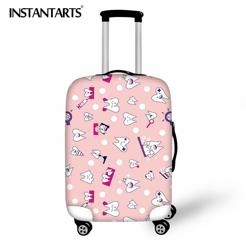 INSTANTARTS Dental Equipment Print Travel Thicken Luggage Protective Cover Suitcase Waterproof Case Bag Covers For 18-30 Inch