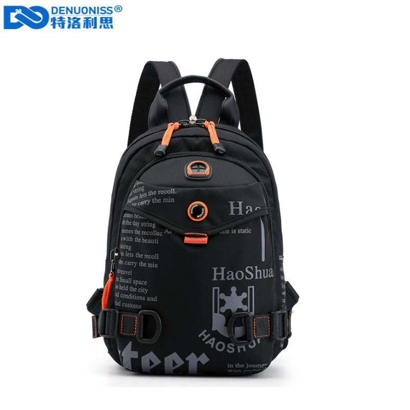 New Designer Fashion Men Backpack Mini Soft Touch Multi-Function Small Backpack Male Shoulder Bag Men Purse