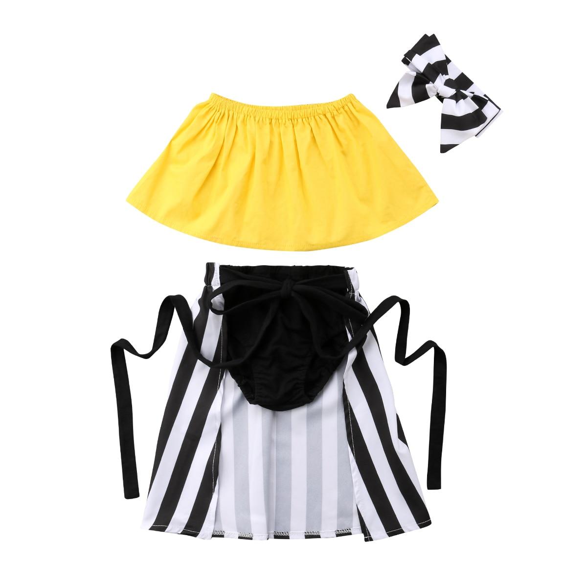USA Toddler Baby Girl Clothes Outfits Set Dress Tops Shorts Pants Headband Dress