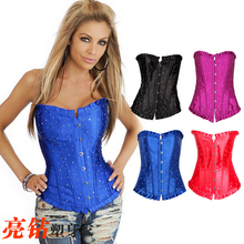 NEW crystal rhinestone lace wedding underbust Sexy Waist Workout Cincher Body Shaper Shapewear Corset S-XXL 0848 Women girl