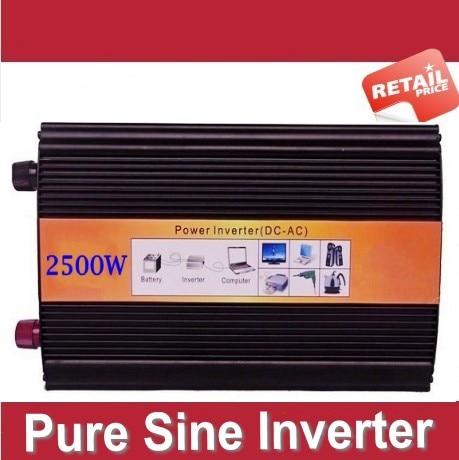Inversor de onda pura 2500watt 12 Volt 220 Volt Solar Off Grid DC-AC Inverter Pure Sine Wave 2500W