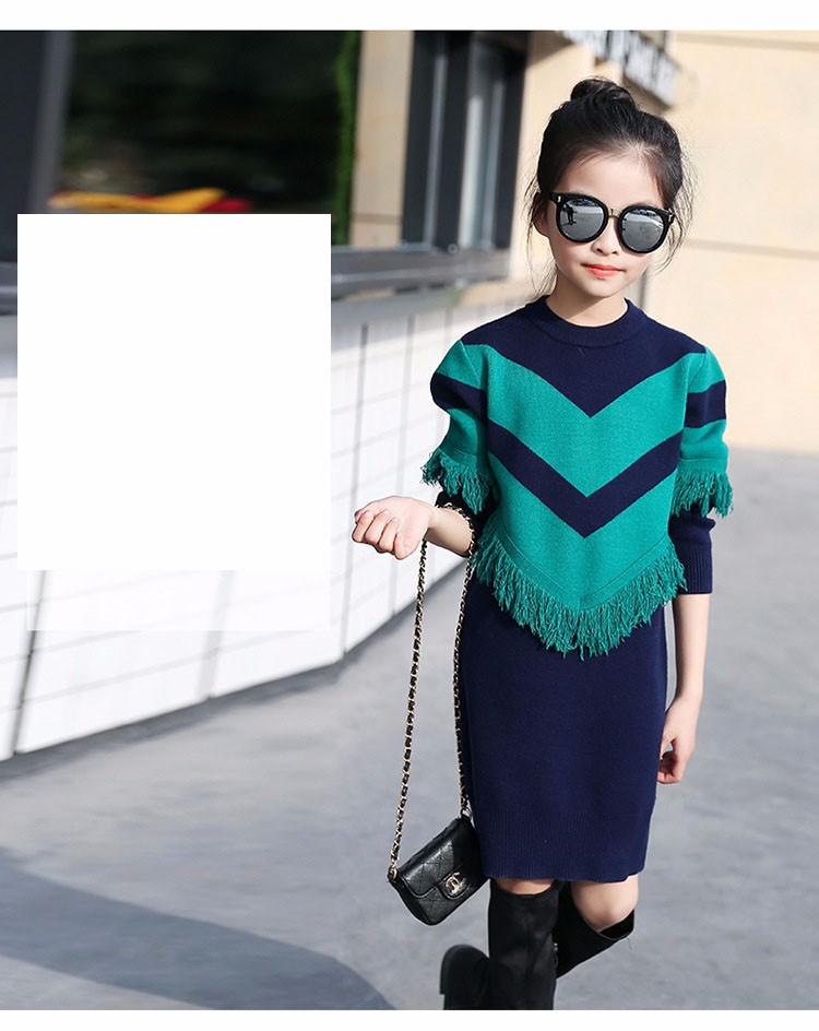 2017 new knitting tassels girls sweater spring autumn winter casual children school clothing preppy style knitted kids sweaters girls dresses 6 7 8 9 10 11 12 13 14 15 16 years old little teenage big girls long sweater dress (18)
