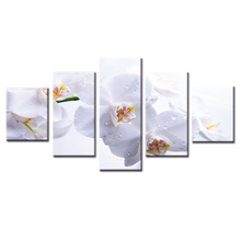 (Frame or No Frame ) 5 Pcs Canvas Print  Flower series Painting Home Decoration for bedroom and living room Decor