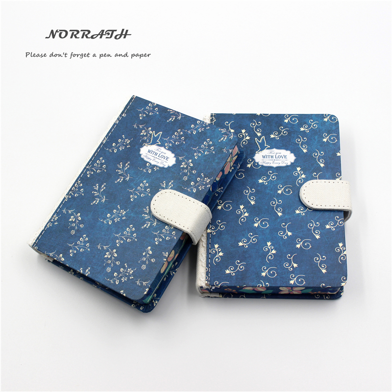 NORRATH A6 Kawaii Cute Stationery Pastoral Printed Notebook Magnetisk Buckle Memo Pad Office School Gaveartikler Notisblokk