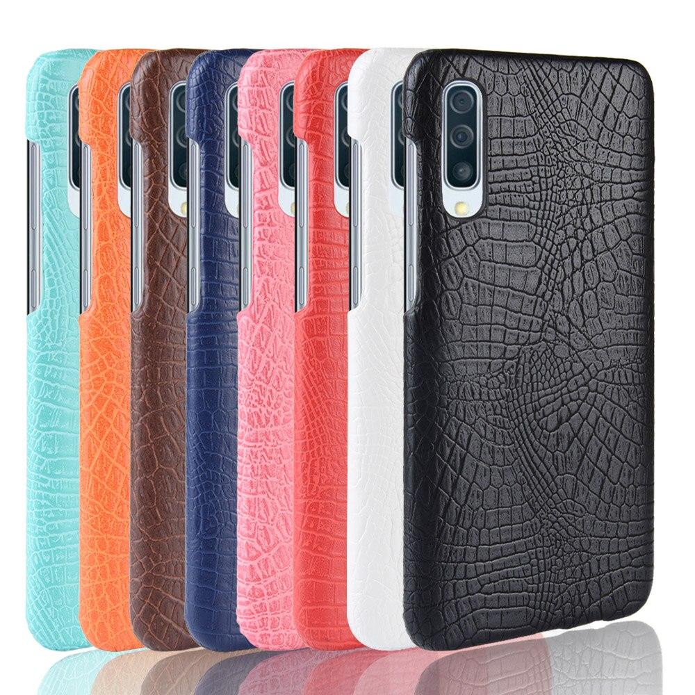 Nuevo Modelo de cocodrilo de cuero para Samsung Galaxy A50 A 50 SM-A505F funda Retro de lujo piel de cocodrilo funda para teléfono