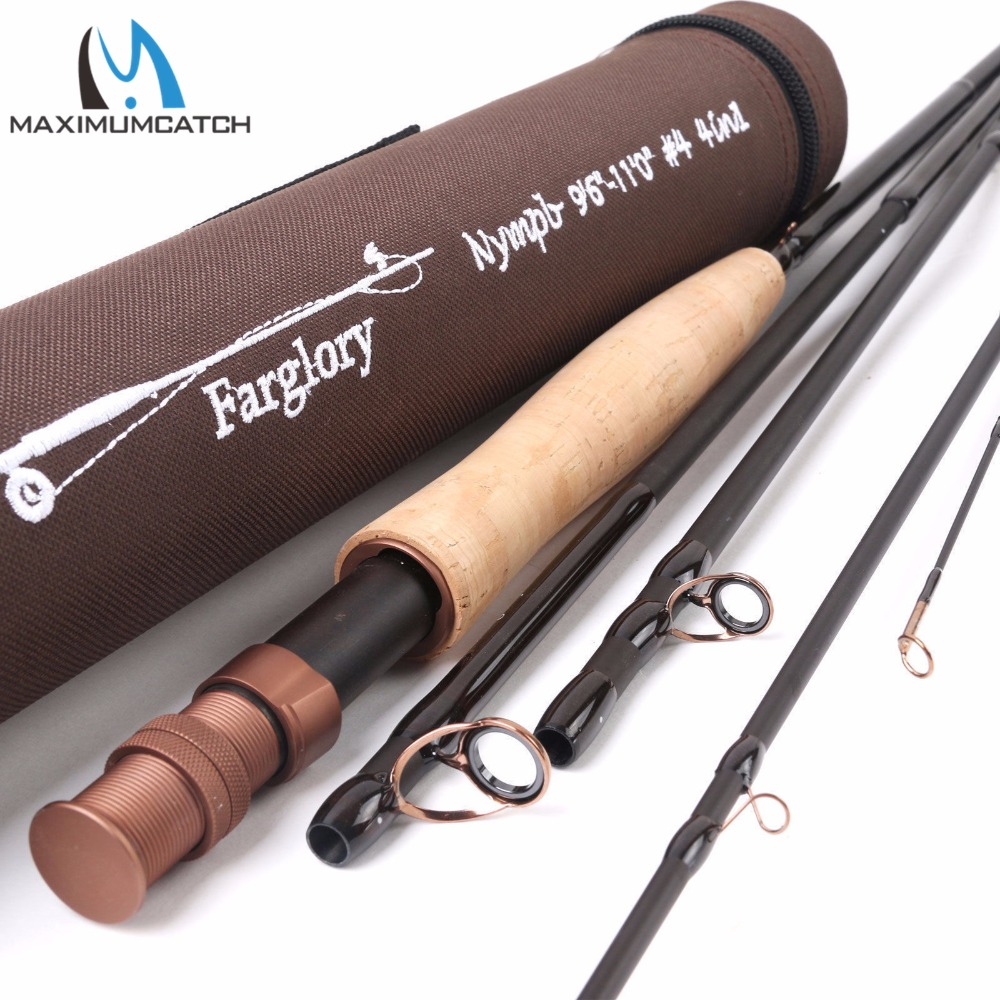 Maximumcatch Farglory 9-106 / 96-110 4-6 Sec 4WT 36T SK Carbon Fly Fishing Rod with 16Extra Extension Section