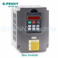 220v/110 3.0kw VFD Variable Frequency Driver Inverter 1HP or 3HP Input 3HP Output CNC Spindle Motor Driver Spindle Speed control