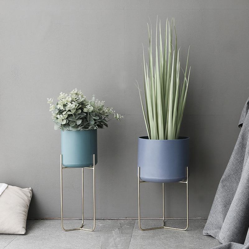 Modern Design Loft Metal Flower Plant Shelf Rack Floor