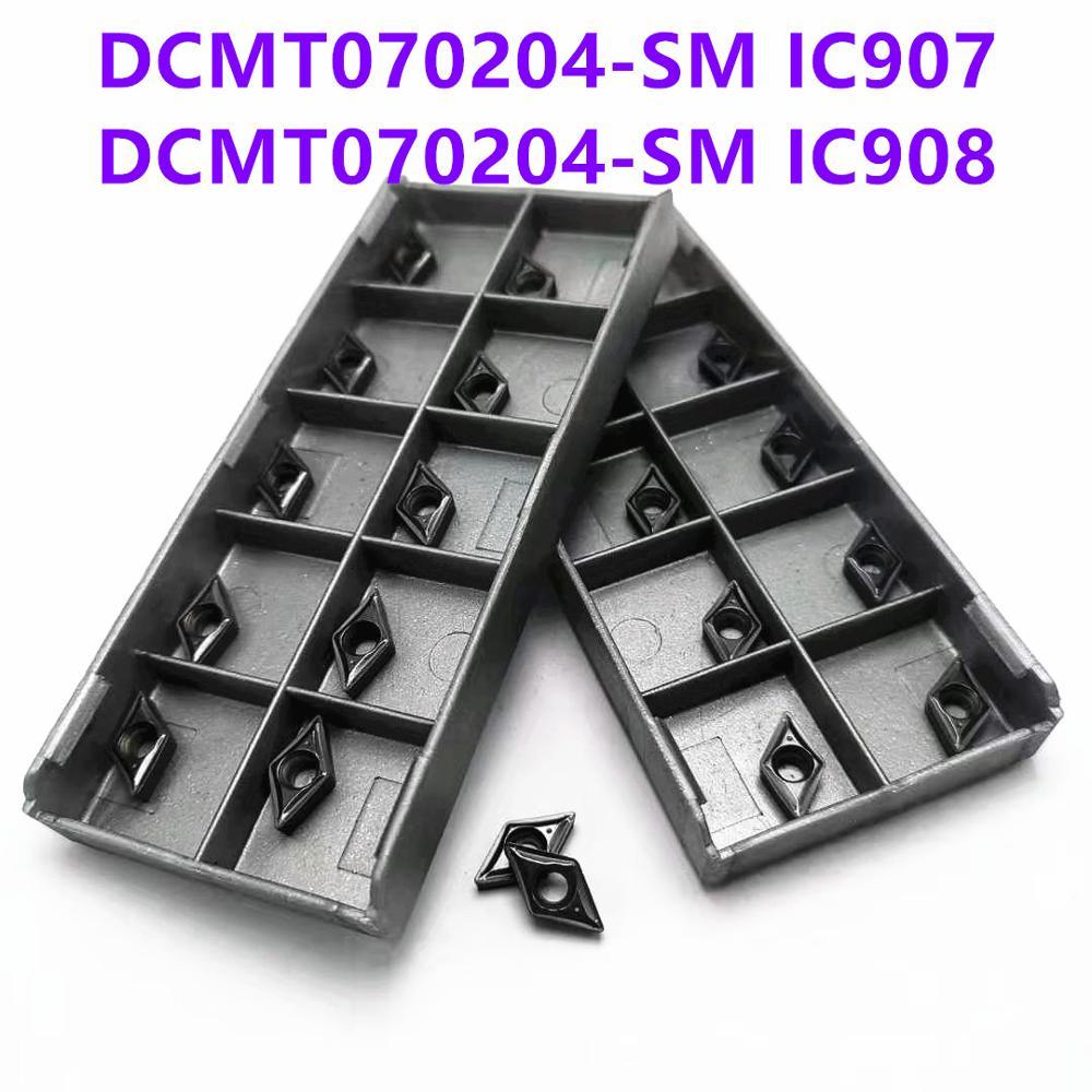 Tungsten Carbide DCMT070204 SM IC907/908 Internal Turning Tool CNC Carbide Insert DCMT 070204 Turning Knife Blade Lathe Blade