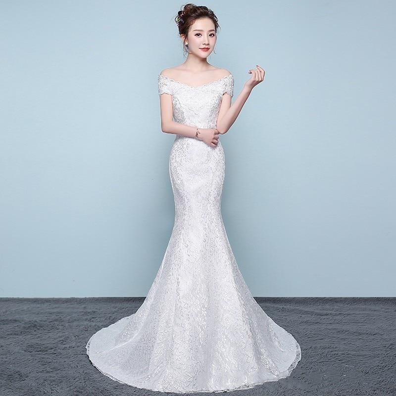 Luxury Sexy Mermaid Wedding Dresses Appliques Off The Shoulder Elegant Bride Dresses With Sweep Train Vestidos De Novia 2020