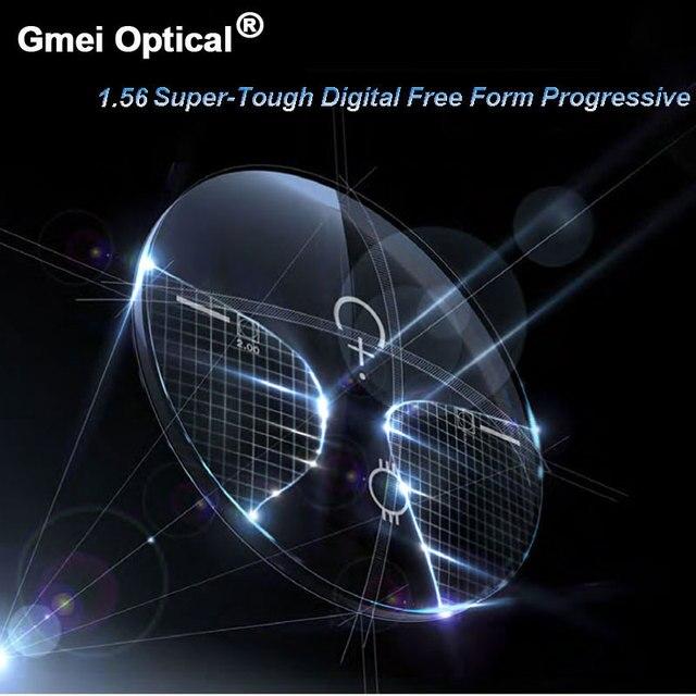 1.56 Super Tough Digital Free Form Progressive No Line Multi Focal Prescription Customized Optical Lenses With AR Coating  2 Pcs