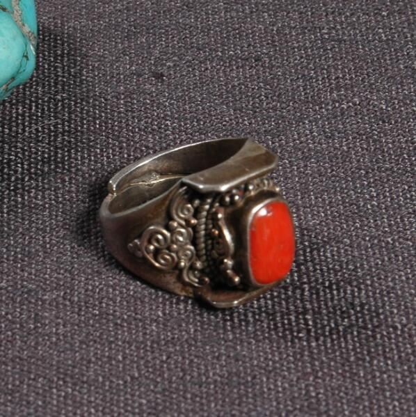 Handcrafted Nepalese 925 Silver Ring Tibetan 925 Sterling Silver Ring Silver Red Bohemia Ring ResizableHandcrafted Nepalese 925 Silver Ring Tibetan 925 Sterling Silver Ring Silver Red Bohemia Ring Resizable