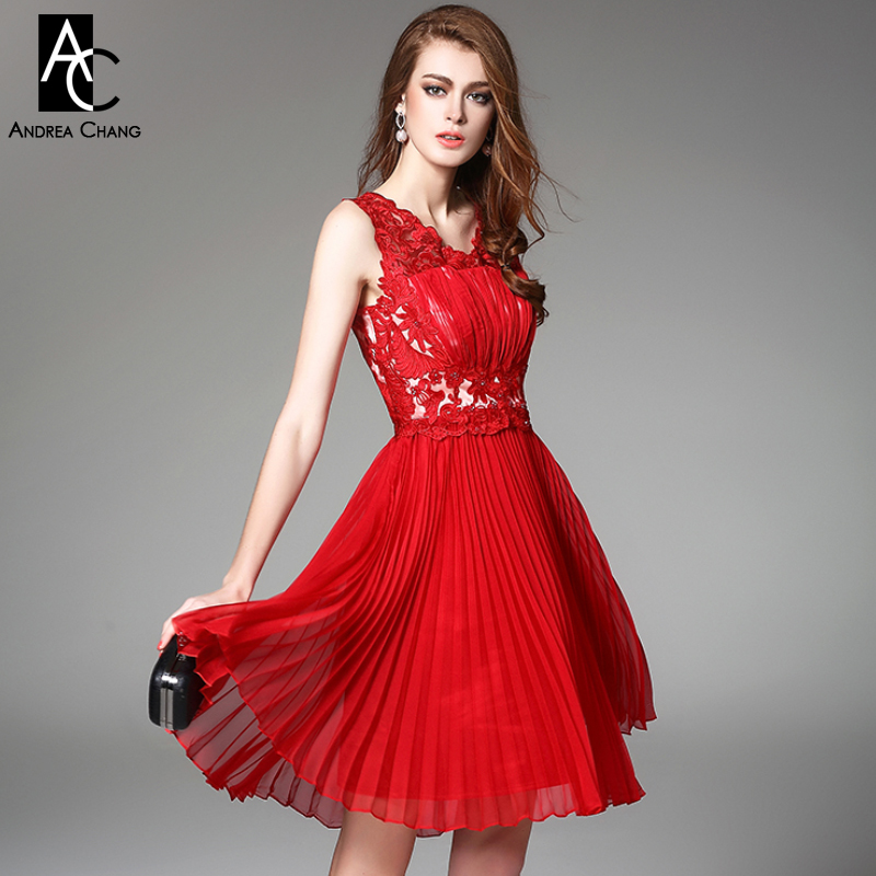 Compare Prices on Dark Red Knee Length Dress- Online Shopping/Buy ...