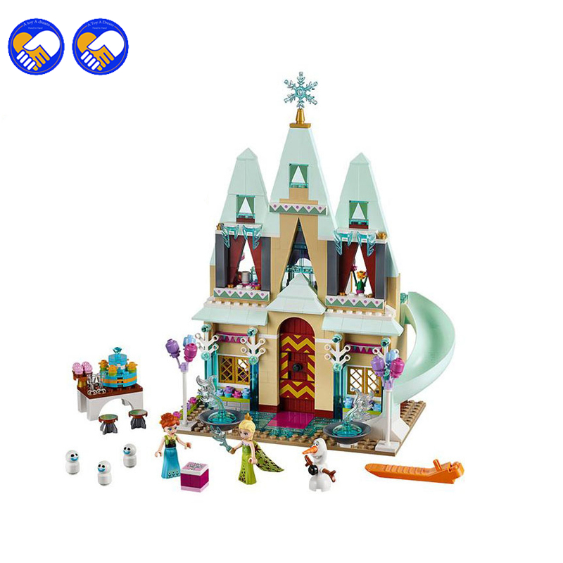 A toy A dream SY371 519Pcs Elsa Anna Arendelle Castle Celebration Model Building Kits Block Bricks Legoingly Toy 41068 a toy a dream lepin 15008 2462pcs city street creator green grocer model building kits blocks bricks compatible 10185