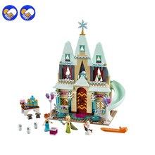 UM brinquedo UM sonho Castelo SY371 519 pcs Elsa Anna Arendelle Legoingly Celebração Kits Modelo de Construção Tijolos Blocos Brinquedo 41068