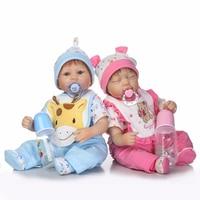 Reborn dolls for baby toys 17 42cm soft silicone reborn baby dolls real newborn baby twin looking child bebe gift reborn boneca