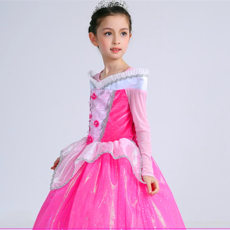 Girl Formal Party Fancy Dress Long Sleeve Carnival Holiday Clothes ...