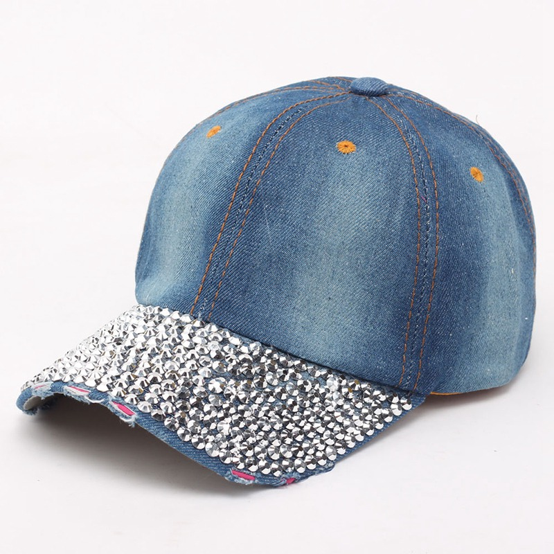 d0b058159d6a8e crystal rhinestone light denim design flag patriotic baseball cap hat bling  hats ladies ...