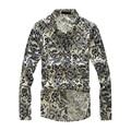 SAF-Новый Лен лен с длинным рукавом slim fit Повседневные мужские рубашки мужчины Платье сорочка homme camisa masculina CS11