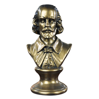 Retro William Shakespeare Ludwig Van Beethoven Bust Statue Resin Craftwork Office Hotel Living Room Decoration Gift L2418