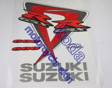 Freeshipping 17pieces sticker decals For GSXR R-GSX 600 GSXR750 2006-2007 K6 K7 Red-color