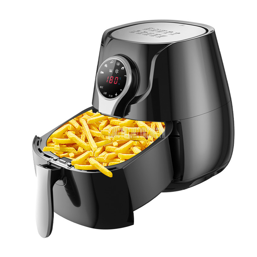 RH958 5L Touch Screen Control Electric Air Frying Pan Pot Deep Air Fryer Oven Cooker Oil-free French Fries Making Machine 1400W RH958 5L Touch Screen Control Electric Air Frying Pan Pot Deep Air Fryer Oven Cooker Oil-free French Fries Making Machine 1400W