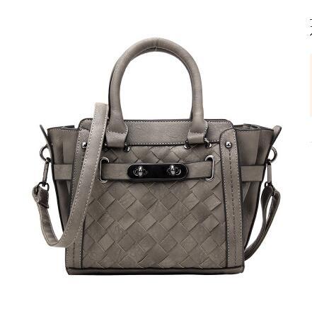 New fashion female package 2017 spring one shoulder bag fashion knitting spin lock bag handbag female inclined shoulder bag 2017 new fashion spring