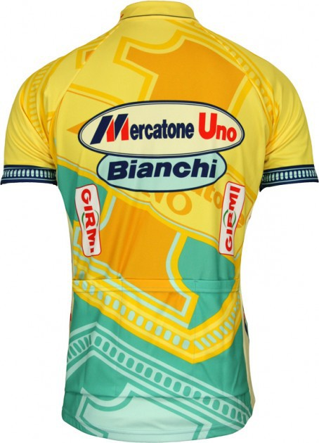 27b7e40e9 Marco Pantani Mercatone Uno jercey team cycling jersey + bib shorts team cycling  kit-in Cycling Sets from Sports   Entertainment on Aliexpress.com