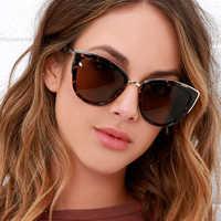 Lunettes de soleil rétro yeux de chat femmes lunettes de soleil Vintage lunette de soleil femme zonnebril dames