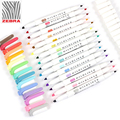 Zebra MildLiner Highlighter Markers Double-Sided Round Toe/Oblique Mild 15 Colors selection pen Art Office School Supplie