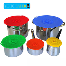 New Silicone Cup Seal Lid Leakproof Food Cover Microwave Bowl Lids Heat Insulation Pad Specialty Kitchen Gadgets Tools