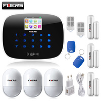 Best KERUI G19 App Control Sms Call GSM Alarm System Door Window Sensor Open Remind Curtain