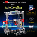 Auto Leveling Prusa I3 3D Printer DIY Kit 8th Generation P802MA Big print size 220*220*240mm + 2 rolls Filament