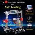 Auto Nivelación I3 Prusa Impresora 3D Kit DIY octava Generación P802MA Grande tamaño de impresión 220*220*240mm 2 rollos de Filamento