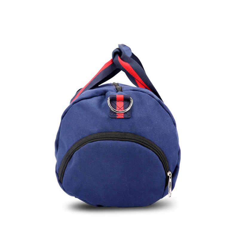Ozuko Olahraga Tas Pria Wanita Portable Travel Bag dengan Sepatu Panduan Pelatihan Kebugaran Tas Bahu Tas Travel Duffle