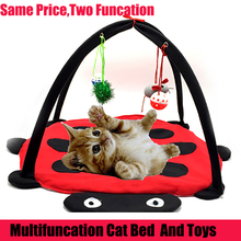 Free Shipping Pet Cat Bed Toys Mobile Activity Playing Bed Toys Cat Bed Pad Blanket House Pet Furniture Cat Tent Toys